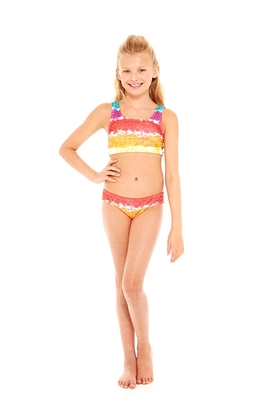 Terez Girls Rainbow Cake Sports Bra Bikini