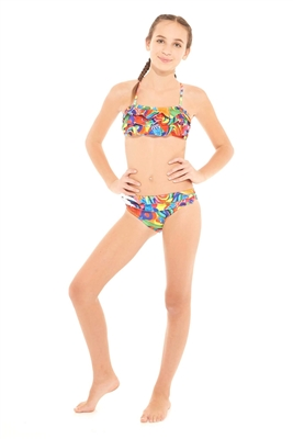 Terez Girls Dylan's Candy Bar Candy Collage Ruffle Bikini
