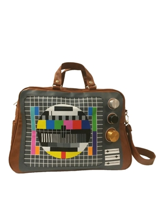 Brown Vintage TV Cross Body Messenger