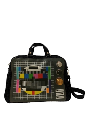 Black Vintage TV Cross Body Messenger
