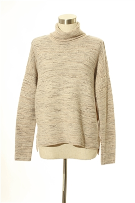 Truehitt - Turtle Neck Brown Sweater