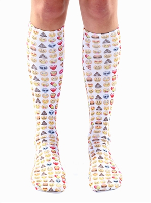 Living Royal Emoji Knee High Socks