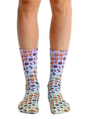 Living Royal Food Emoji Crew Socks