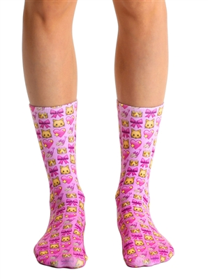 Living Royal Girly Emoji Crew Socks