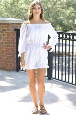 Along Those Lines Romper