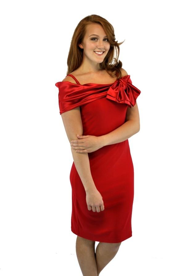 Red joseph ribkoff dress