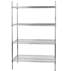 "Shelving Kit, 18"" x 48"" 4 Shelves Chrome - VCS-1848 by California Cooking."