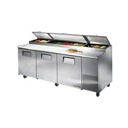 ChefsFirst offers equipment & supplies for restaurants, commercial kitchens, foodservice & manufacturing facilities. Check out our low price for this Refrigerators, Pizza Prep Table - 3 Section, TPP-93 by True.