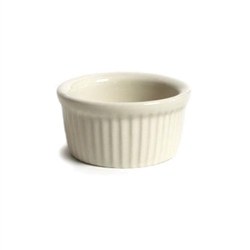 ChefsFirst offers equipment & supplies for restaurants, commercial kitchens, foodservice & manufacturing facilities. Check out our low price for this Ramekin, 2 1/2oz Fluted Sides Plain Porcelain, Eggshell, BEX-0252 by Tuxton.