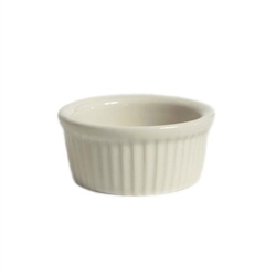 ChefsFirst offers equipment & supplies for restaurants, commercial kitchens, foodservice & manufacturing facilities. Check out our low price for this Ramekin, 4 1/2oz Fluted Sides Plain Porcelain, Eggshell, BEX-0452 by Tuxton.