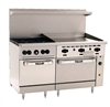 "ChefsFirst offers equipment & supplies for restaurants, commercial kitchens, foodservice & manufacturing facilities. Check out our low price for this Range, 60"", 4 Burners, 36"" Griddle, 2 Standard  Ovens - Nat. Gas, 60SS-4B-36G-N by Vulcan."
