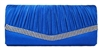 Royal Blue Satin Wedding Evening Bridal Clutch