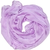Light Purple Solid Polyester Chiffon Neck Scarf