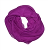Purple Solid Polyester Chiffon Neck Scarf Wrap Stole Shawl