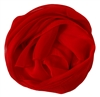 Red Solid Polyester Chiffon Neck Scarf Wrap Stole Shawl