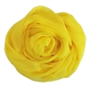 Yellow Solid Polyester Chiffon Neck Scarf Wrap