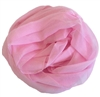 Pink Solid Polyester Chiffon Neck Scarf Wrap