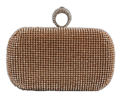 Gold Duster Knuckle Evening Clutch Bag