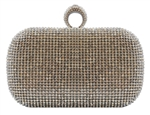 Silver Duster Knuckle Evening Clutch Bag