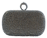 Black Duster Knuckle Evening Clutch Bag