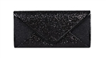 Black Mesh Bridal Wedding Evening Cocktail Clutch