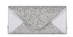 Silver Mesh Bridal Envelope Evening Clutch
