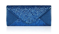 Royal Blue Sequin Mesh Bridal Wedding Clutch