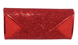 Red Sequin Mesh Bridal Wedding Evening Clutch