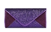 Purple Sequin Mesh Bridal Wedding Evening Clutch