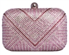 Pink Rhinestone Crystal Cocktail Clutch
