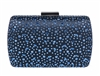 Dark Blue Bridal Sequin Crystal Hard Box Clutch