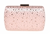 Champagne Bridal Sequin Crystal Hard Box Clutch