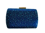 Royal Blue Bridal Sequin Crystal Hard Box Cocktail Clutch Purse