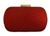 Red Bridal Sequin Crystal Hard Box Wedding Cocktail Clutch Purse