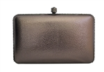 Snakeskin Croc Scale Animal Pattern Hard Clutch