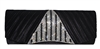 Pleated Satin Wedding Evening Bridal Clutch Purse With Triangle Rhinestones Decor