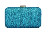 Sparkle Hard Box Wedding Evening Clutch Purse With Rhinestone Closure
