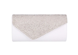 Chicastic Rhinestone Hard Envelope Wedding Evening Cocktail Clutch Purse