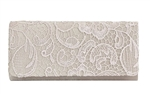Chicastic Lace Satin Bridal Wedding Evening Cocktail Clutch Purse