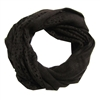 Brown Knitted Infinity Tube Cowl Neck Cozy Scarf