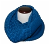 Royal Blue Knitted Infinity Tube Cowl Neck Scarf