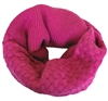 Fuchsia Pink Knitted Infinity Tube Cowl Neck Scarf