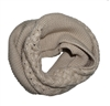 Light Beige Knitted Infinity Tube Cowl Scarf