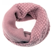 Light Pink Knitted Infinity Tube Cowl Scarf