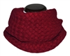 Wine Red Knitted Infinity Tube Cowl Scarf