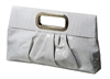 White Glossy Faux Leather clutch bag purse