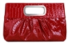 Red Pleather Clutch Purse Handbag