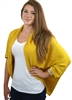 Yellow Casual Lightweight Loose Fit Shrug Style Cardigan