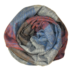 Wool Blend Oblong Infinity Neck Scarf Shawl Wrap