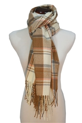 Soft Plaid Color Block Oblong Neck Scarf Shawl Wrap